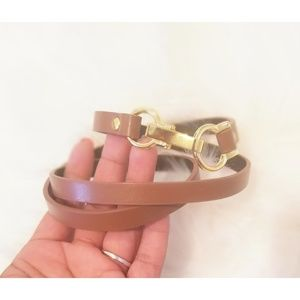 Accessories - Thin Brown and gold belt